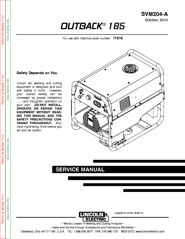 lincoln electric svm136 a idealarc cv 400 service manual lincoln