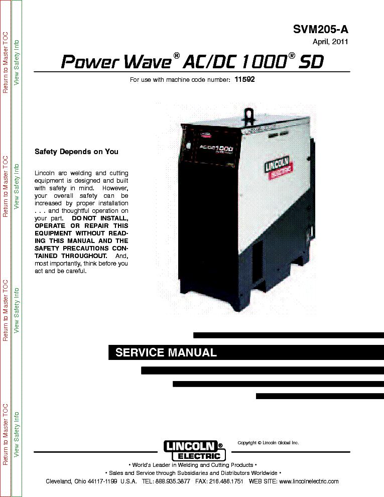 lincoln electric svm136 a idealarc cv 400 service manual lincoln
