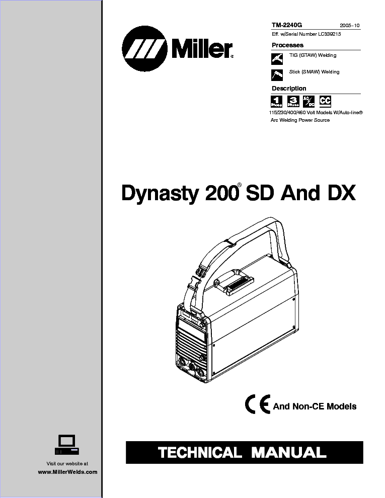 Miller Dynasty 200 User Manual