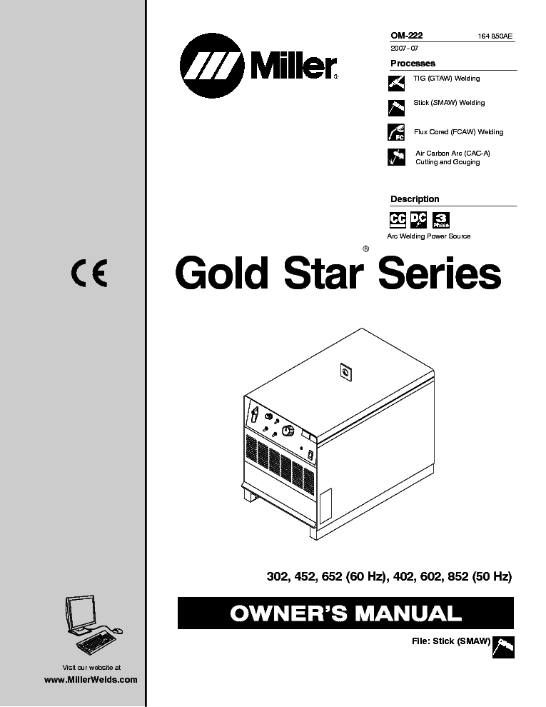 miller gold star series 302 452 652 402 602 852 om service manual rh elektrotanya com 2007 v star 1100 service manual 2007 yamaha v star 1100 service manual free download