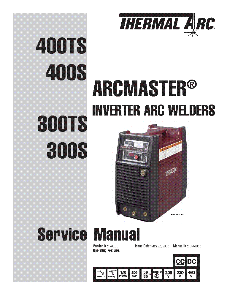 THERMAL ARC ARCMASTER 300TS 300S 400TS 400S ENG-SM service manual (1st page)