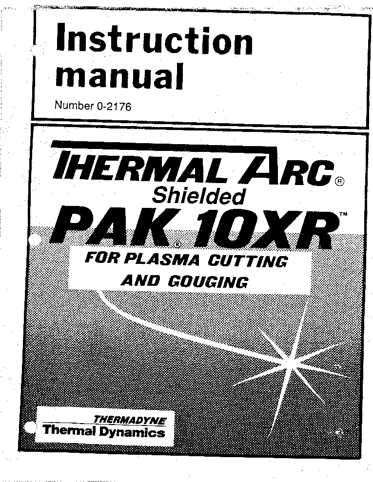 thermal arc pak 10xr manual