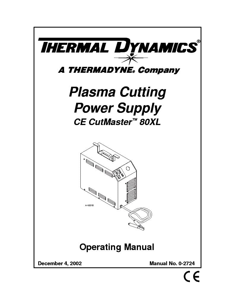 thermal dynamics cutmaster 81 manual
