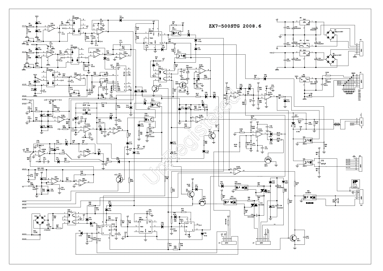 dc welding machine diagram zx7 500stg inverter dc welding service manual download ... #9