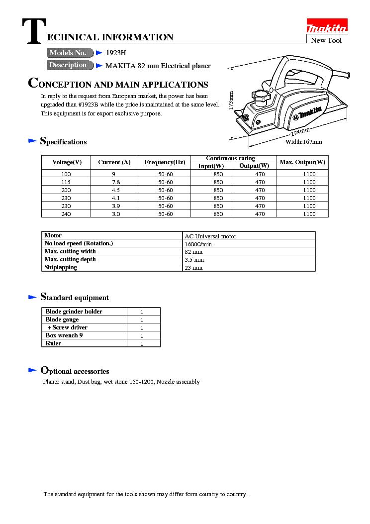 Makita Service Manuals