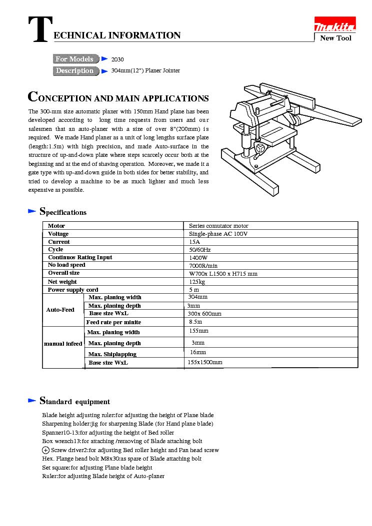 makita 2030 te service manual download schematics eeprom repair rh elektrotanya com