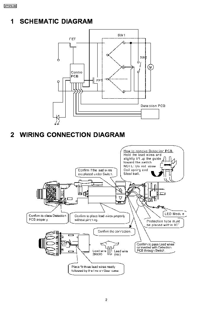 panasonic ey7410-x8 service manual (2nd page)