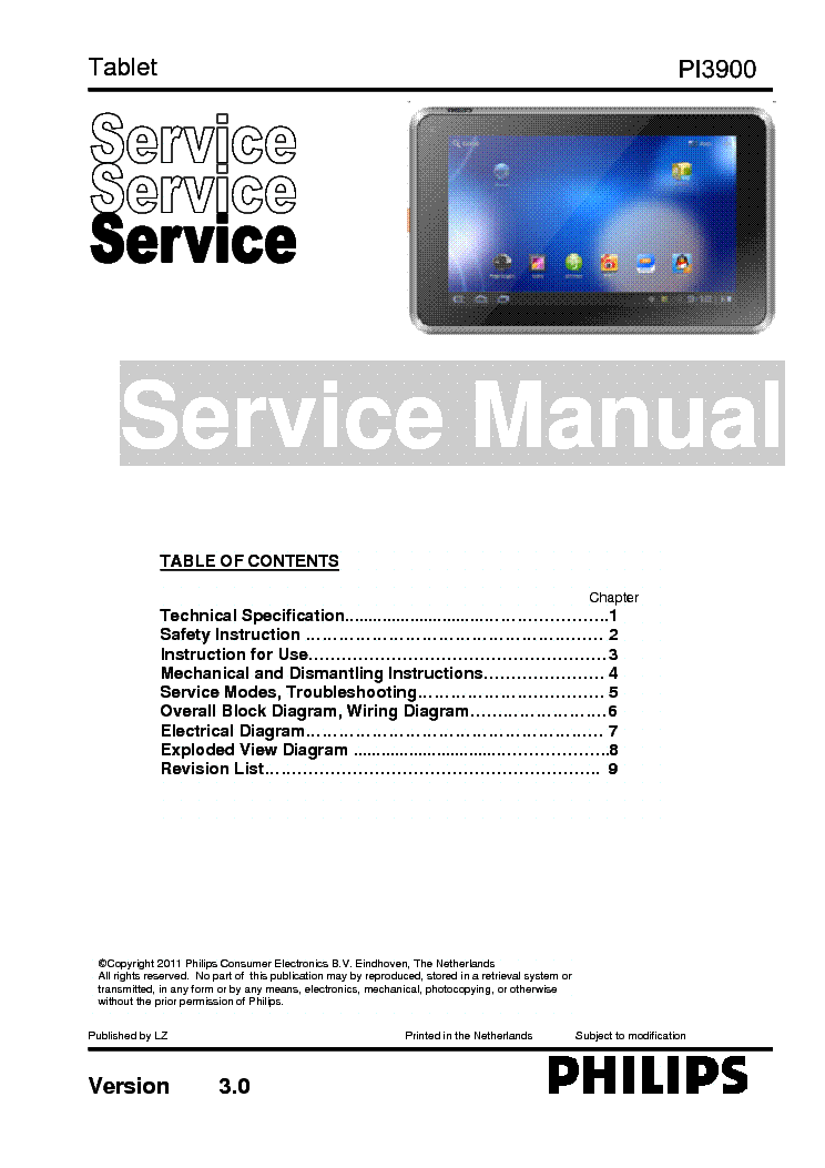 Philips pi3900 tablet service manual download schematics eeprom philips pi3900 tablet service manual 1st page greentooth Choice Image