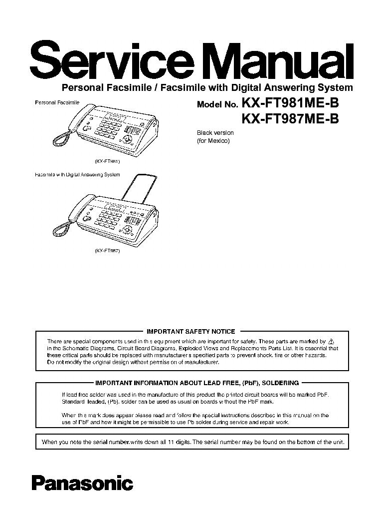 Panasonic kx ft982 инструкция