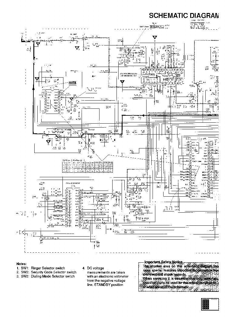 Схема и мануал телефона Panasonic KX-T3920.