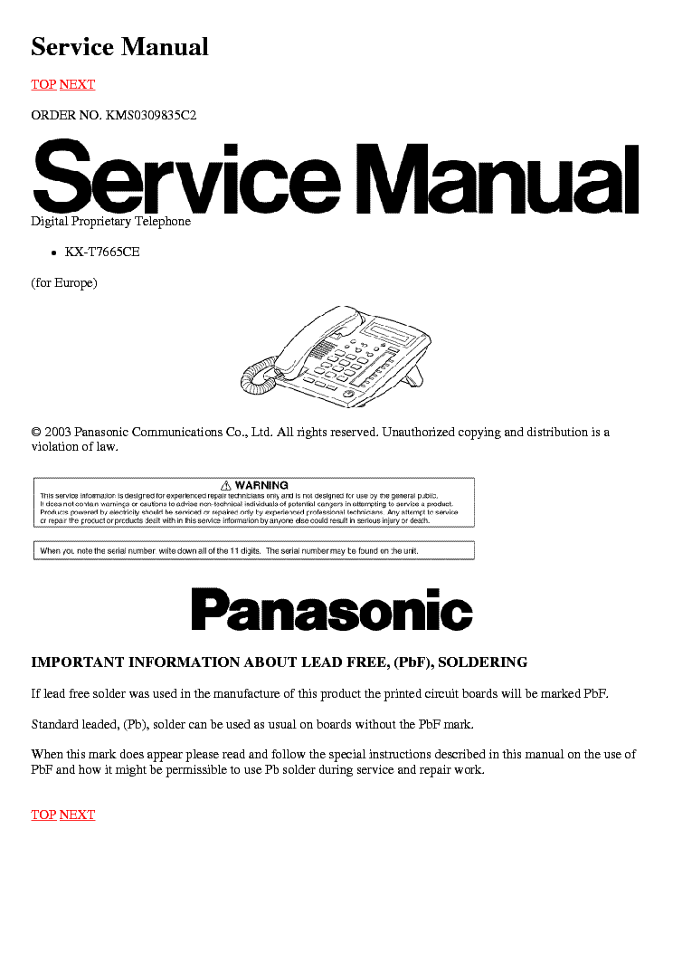 panasonic kx t7665ce service manual download schematics eeprom rh elektrotanya com panasonic kx-t7665 manual pdf panasonic kx-t7665 manual user guide