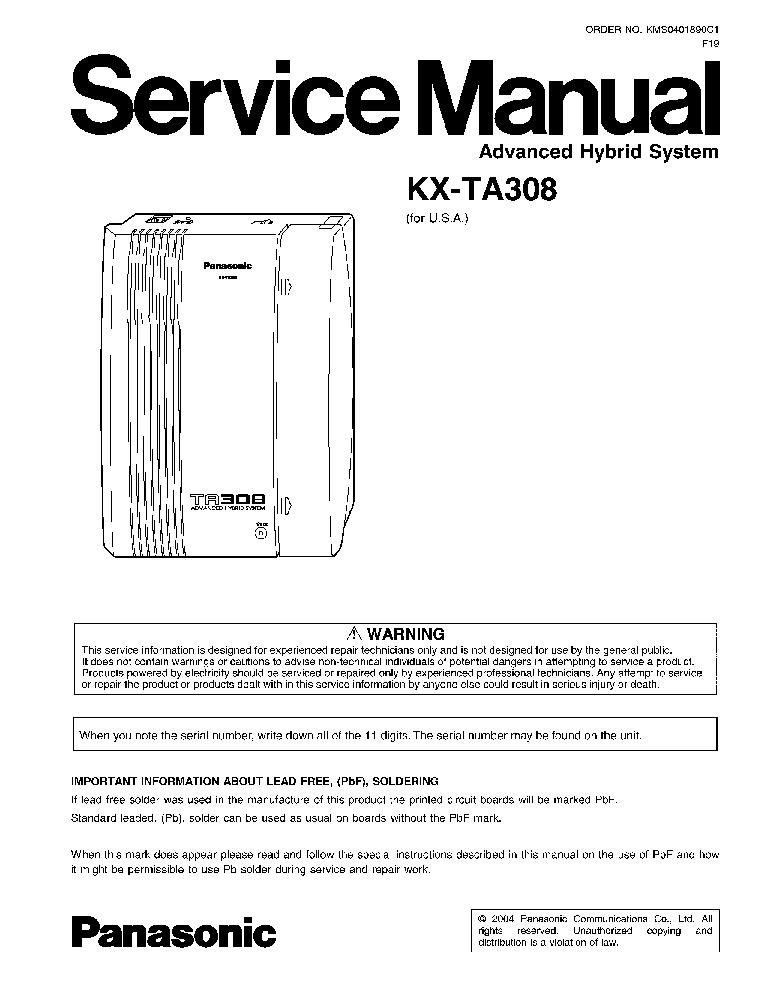 Panasonic kx ta308 manual pdf.