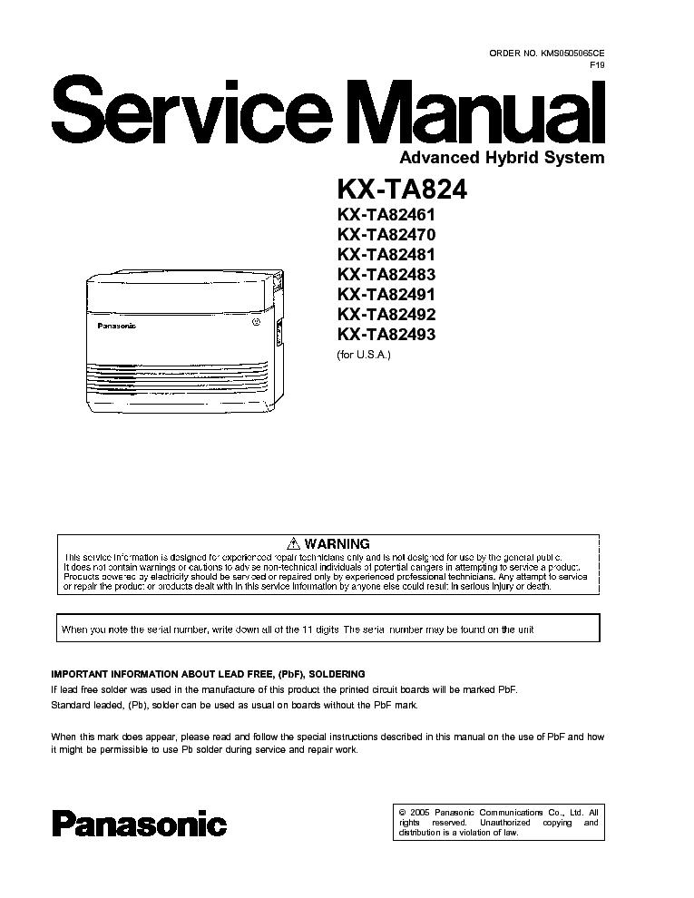 panasonic kx ta824 service manual download schematics eeprom rh elektrotanya com panasonic kx-ta824 installation manual panasonic kx-tem824 user manual