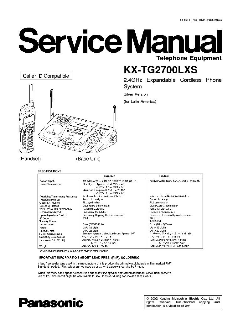 Инструкция Panasonic Kx-A142