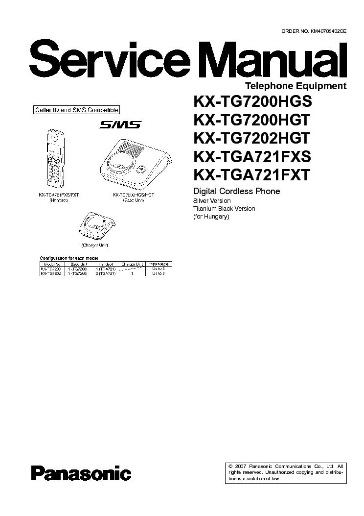 Инструкция для телефона panasonic kx tg7200