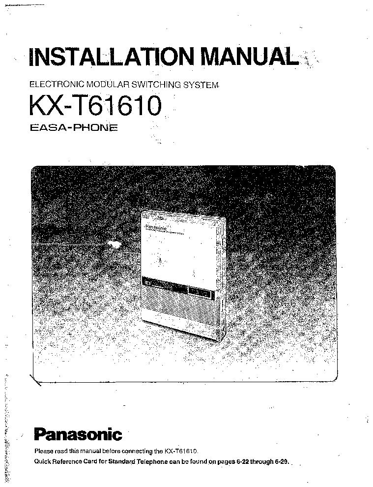 Инструкция к телефону Panasonic Kx T2365