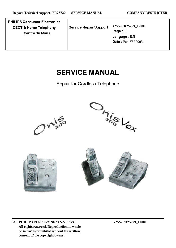 Инструкция philips onis300