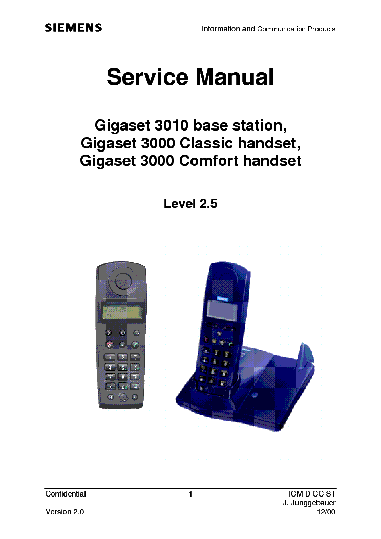 siemens gigaset 3000 3010 sm service manual download schematics rh elektrotanya com