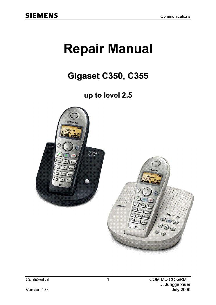 siemens gigaset c350 c355 repair manual service manual download rh elektrotanya com Siemens User Manual Siemens OpenStage 40 User Manual