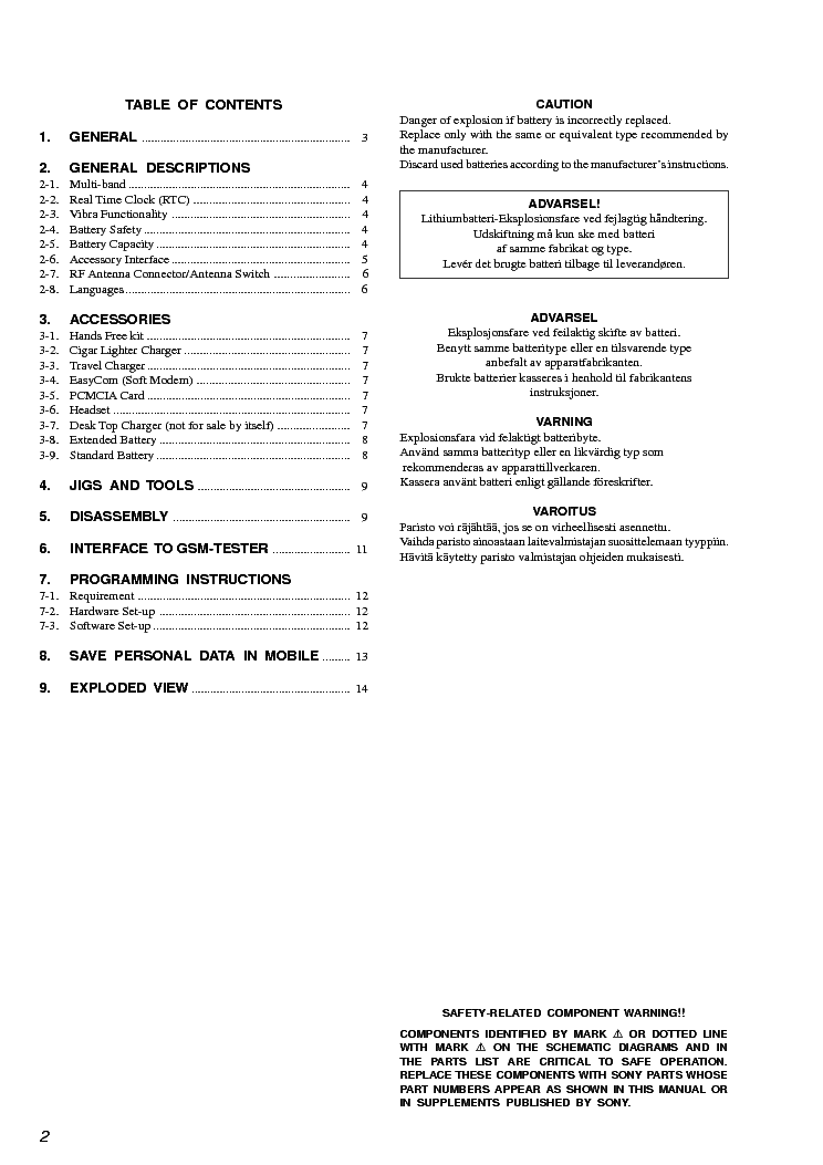 SONY CMD-Z5,Z18 service manual (2nd page)