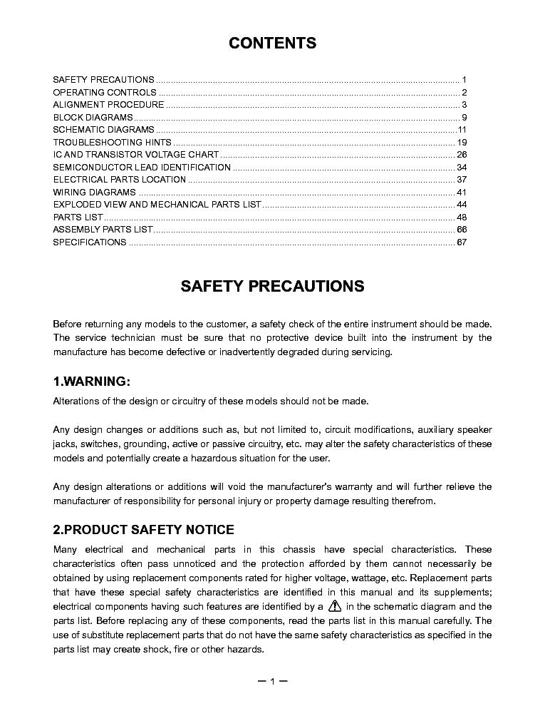 TOSHIBA FT-8959 SM Service Manual download, schematics