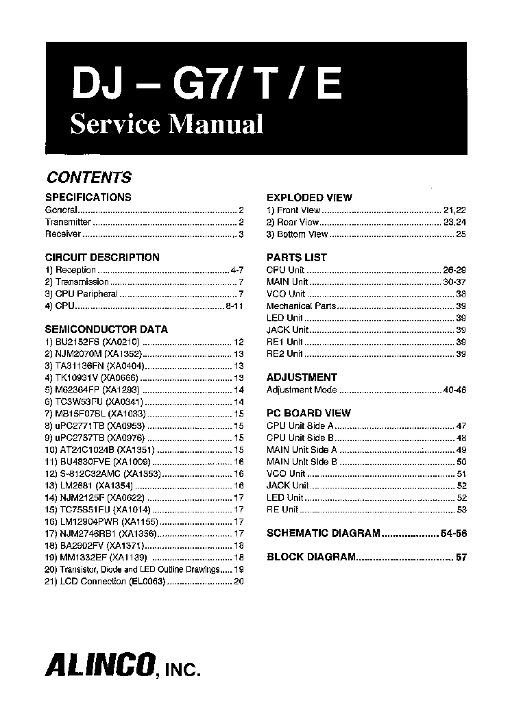 alinco dr 110 service manual