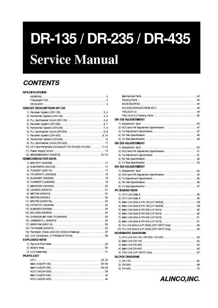 alinco dr 135 dr 235 dr 435 sm service manual download schematics rh elektrotanya com