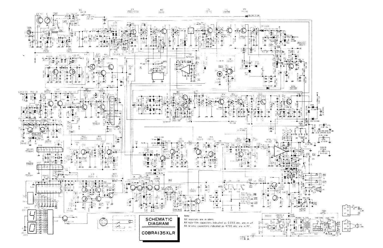 COBRA 135XLR service manual (1st page)