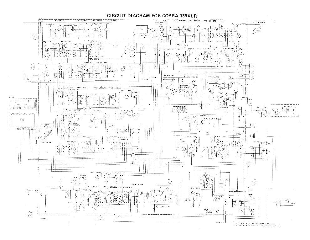 COBRA 138XLR service manual (1st page)