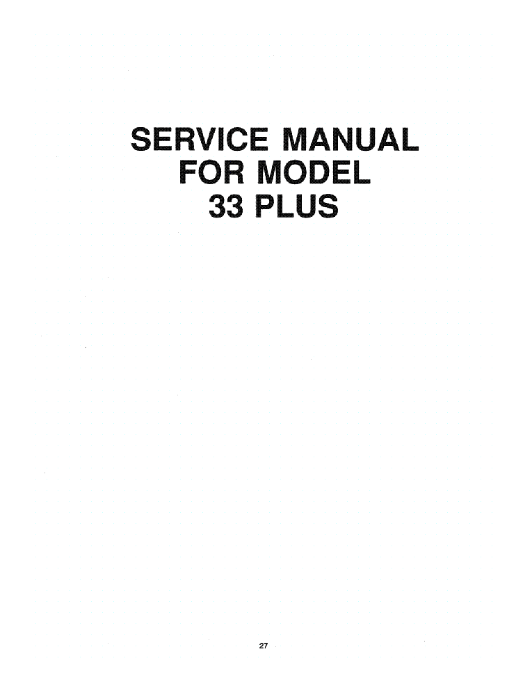 COBRA 33PLUS SM service manual (2nd page)