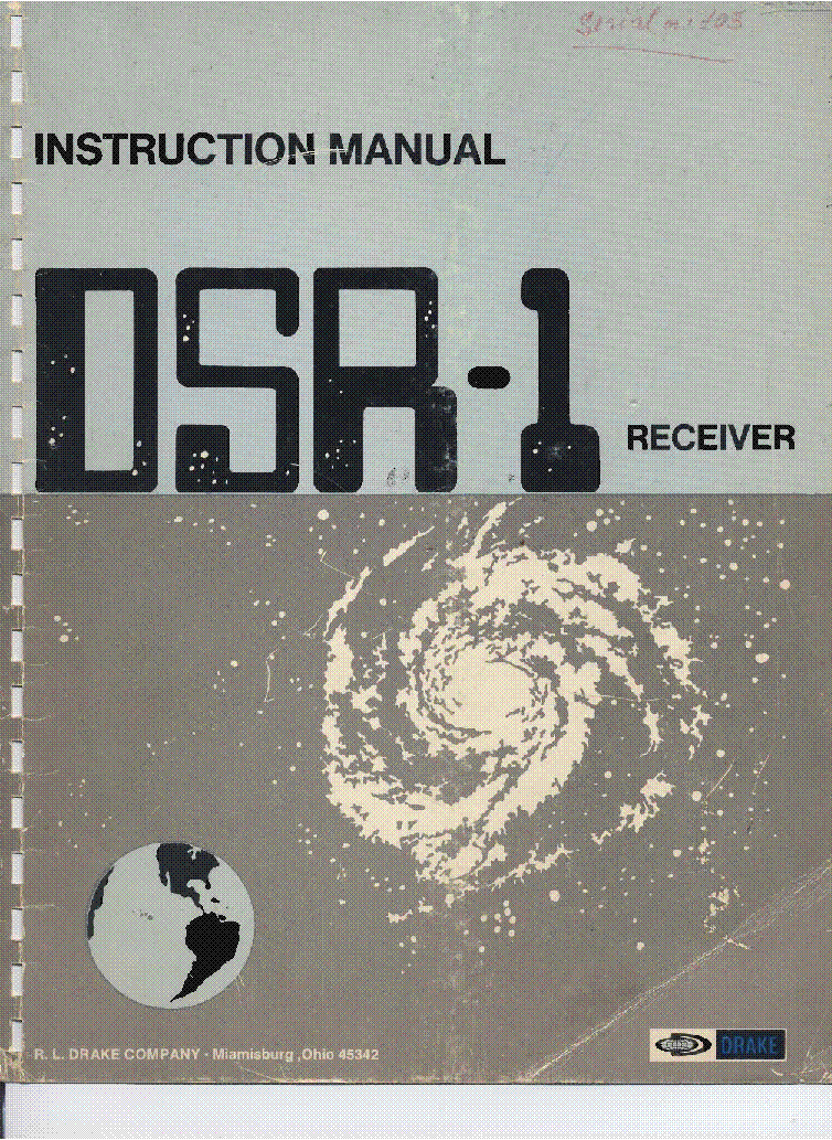 DRAKE DSR-1 COMMUNICATIONS RECEIVER service manual