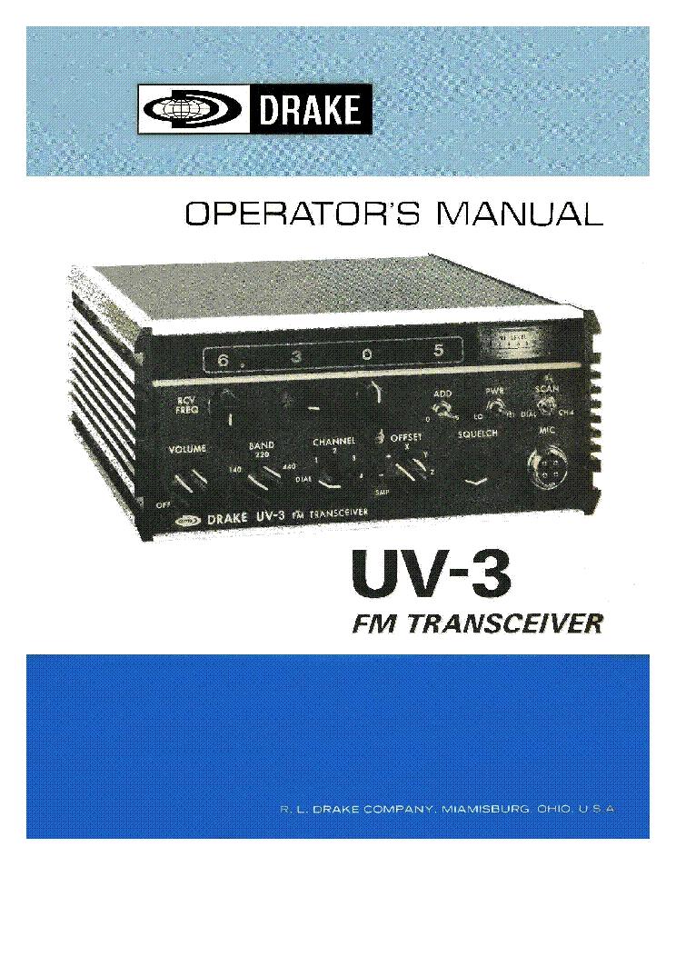 Drake R7 Service Manual