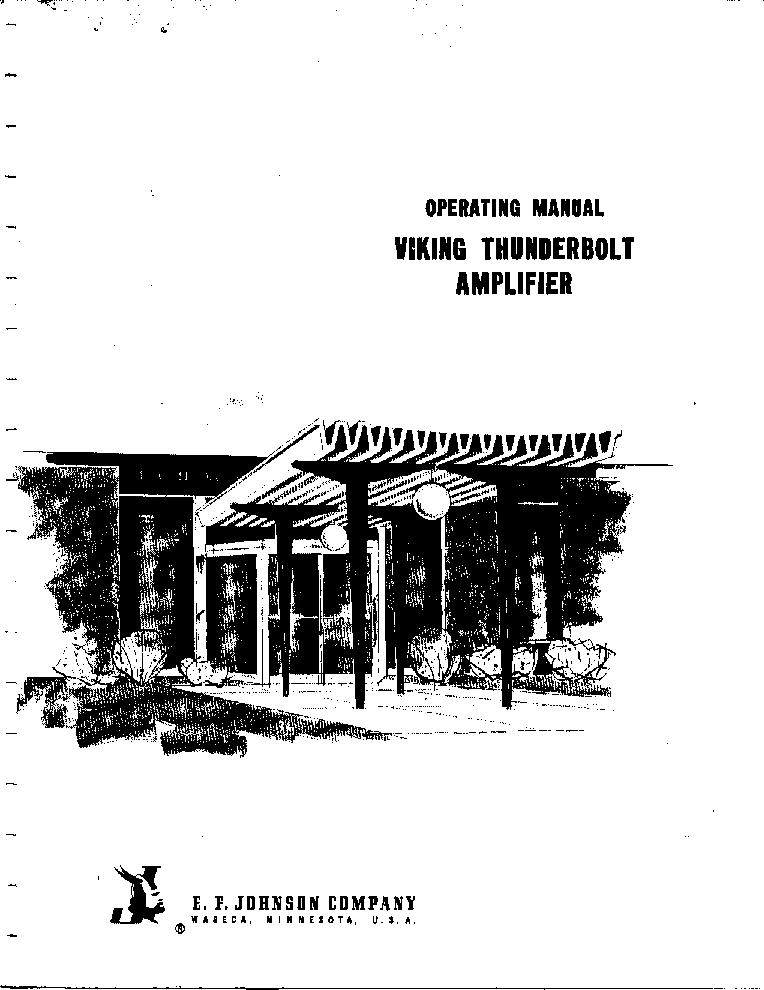 E F Johnson Viking 6n2 Thunderbolt Amplifie Service Manual