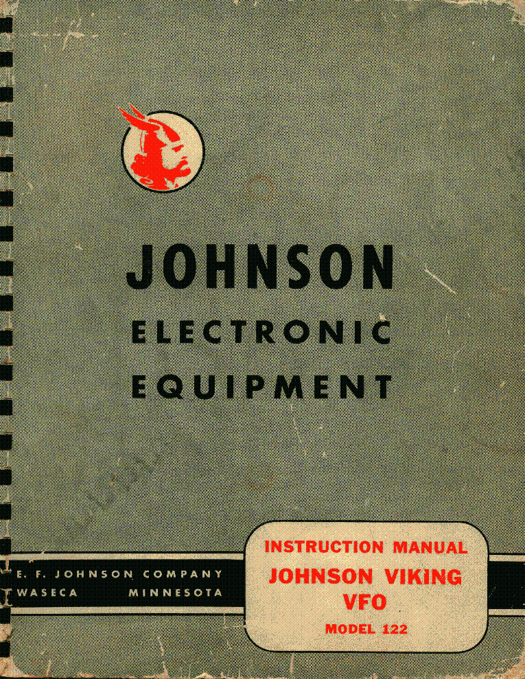 E F JOHNSON VIKING VFO MODEL 122 Service Manual download, schematics