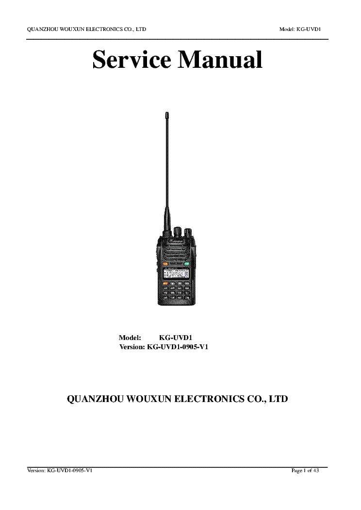 Wouxun Kg Uvd1p Manual Download