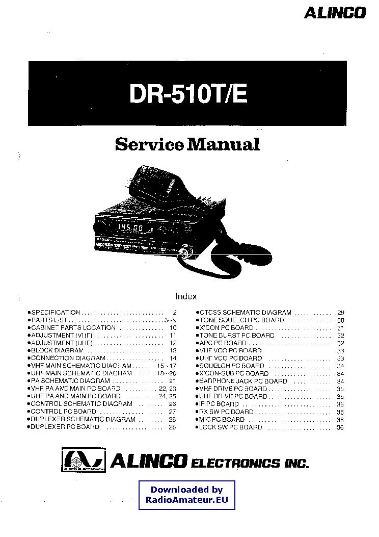 alinco dr 510 service manual download schematics eeprom repair rh elektrotanya com