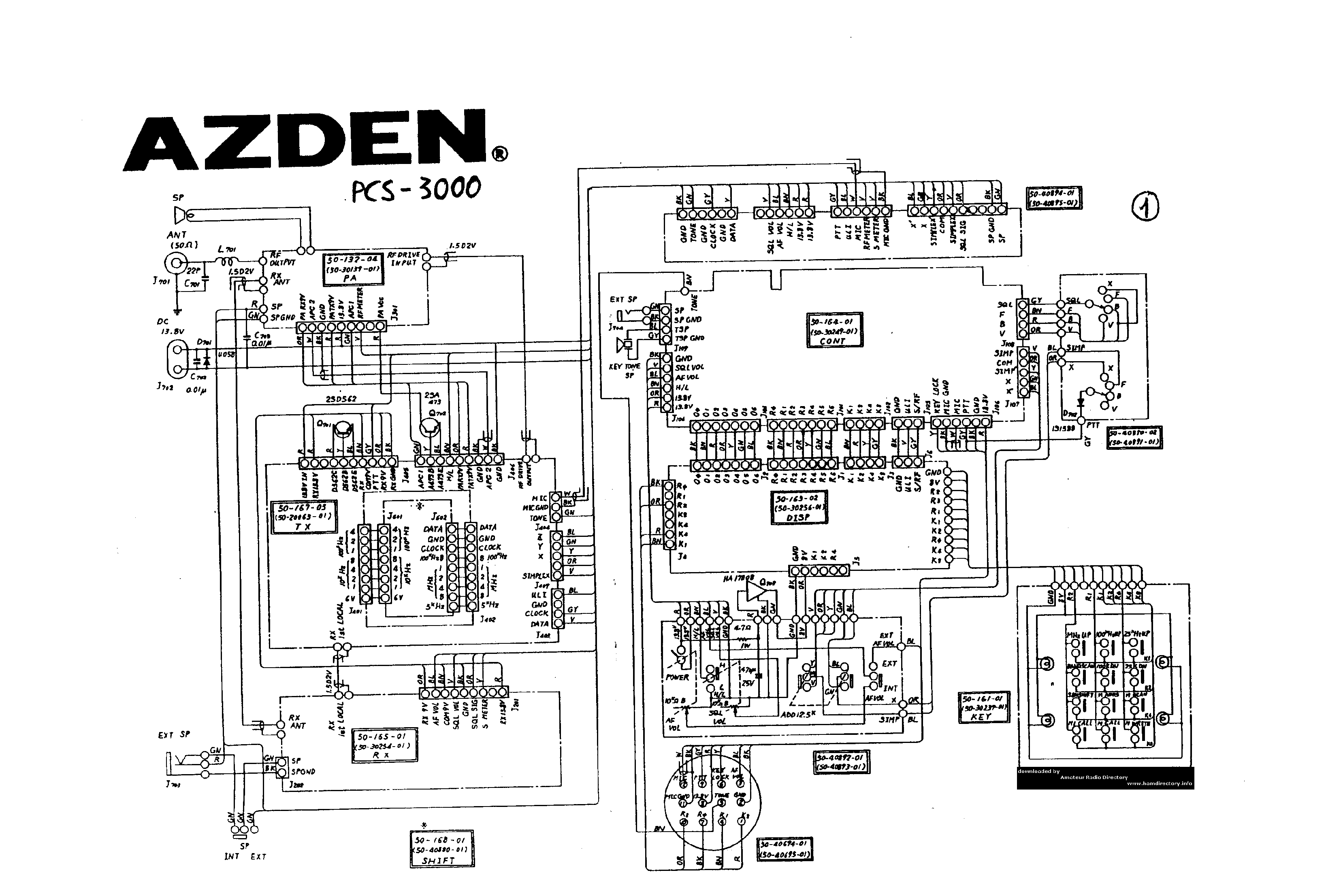 AZDEN PCS-3000 service manual