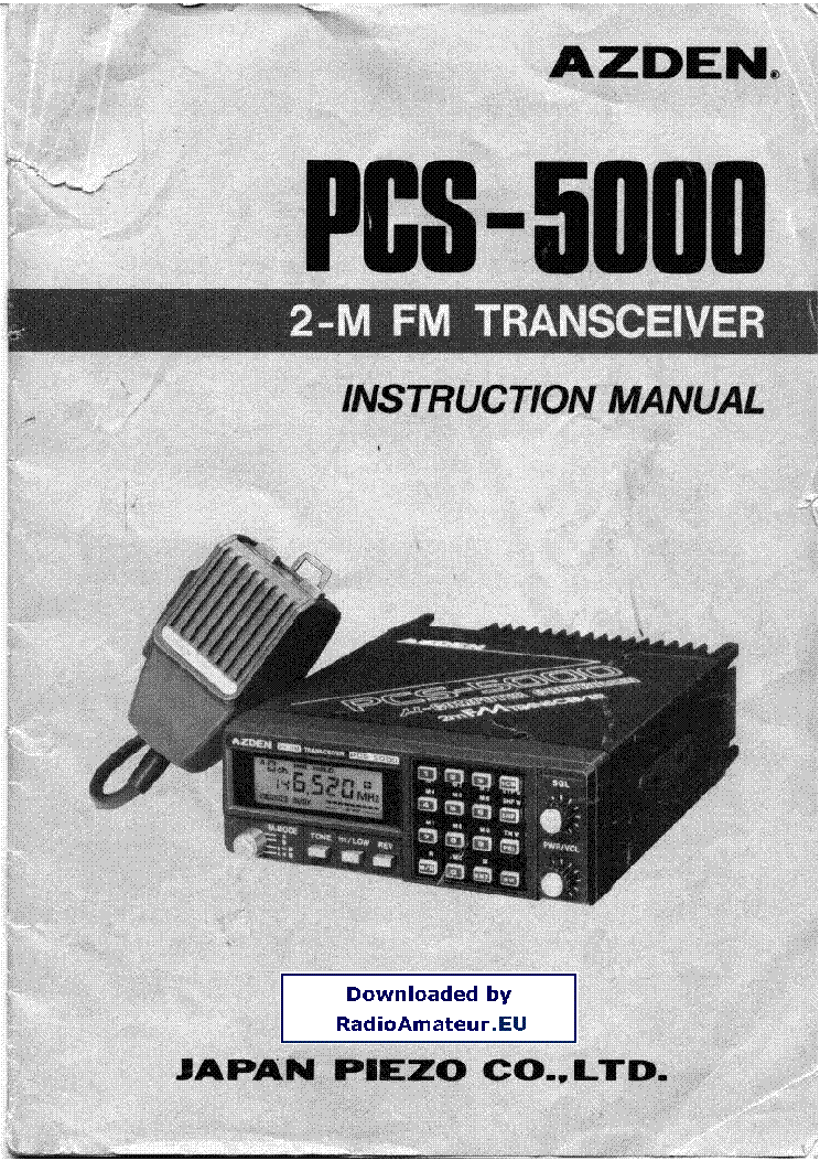 AZDEN PCS-5000 service manual