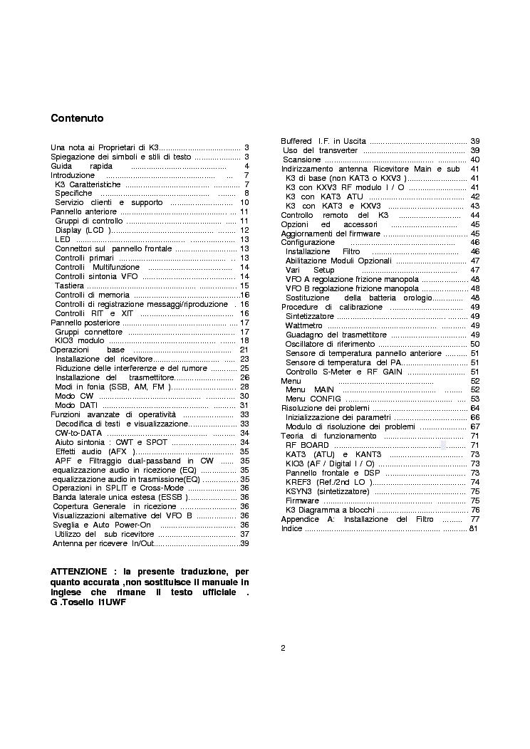 ELECRAFT K3 TRANSCEIVER Service Manual download, schematics, eeprom