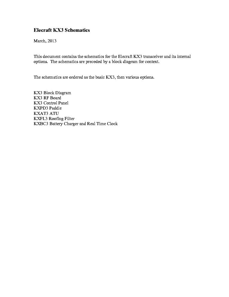 ELECRAFT KX3 SCH Service Manual download, schematics, eeprom ... on