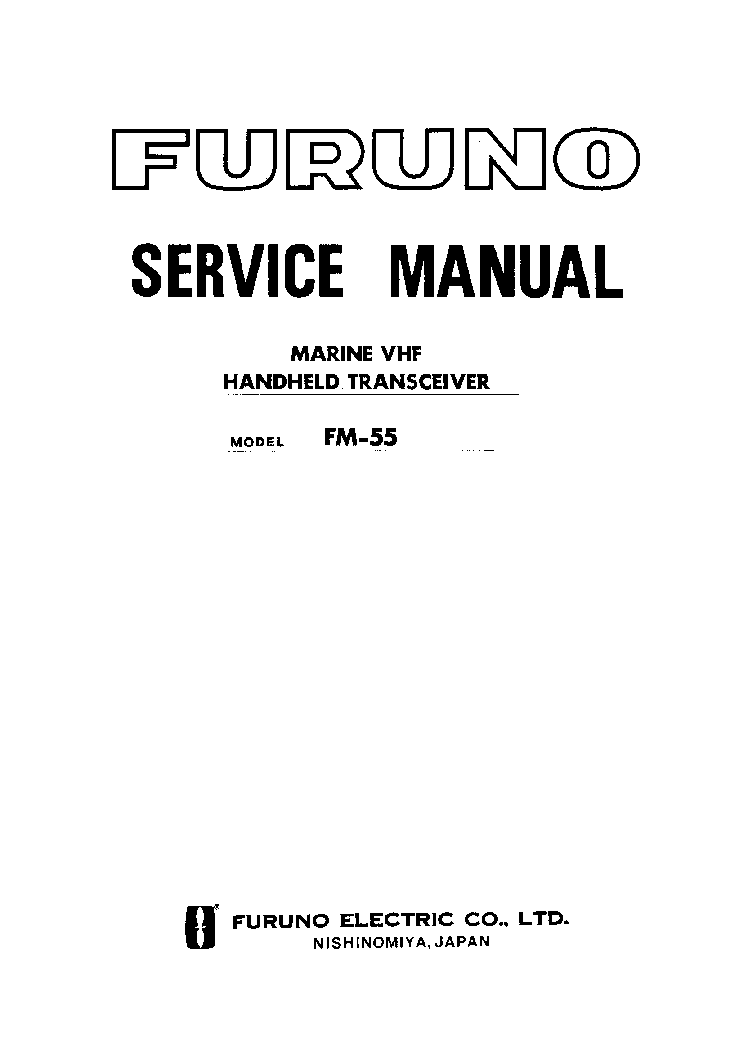 Furuno Fm55 Service Manual Download  Schematics  Eeprom