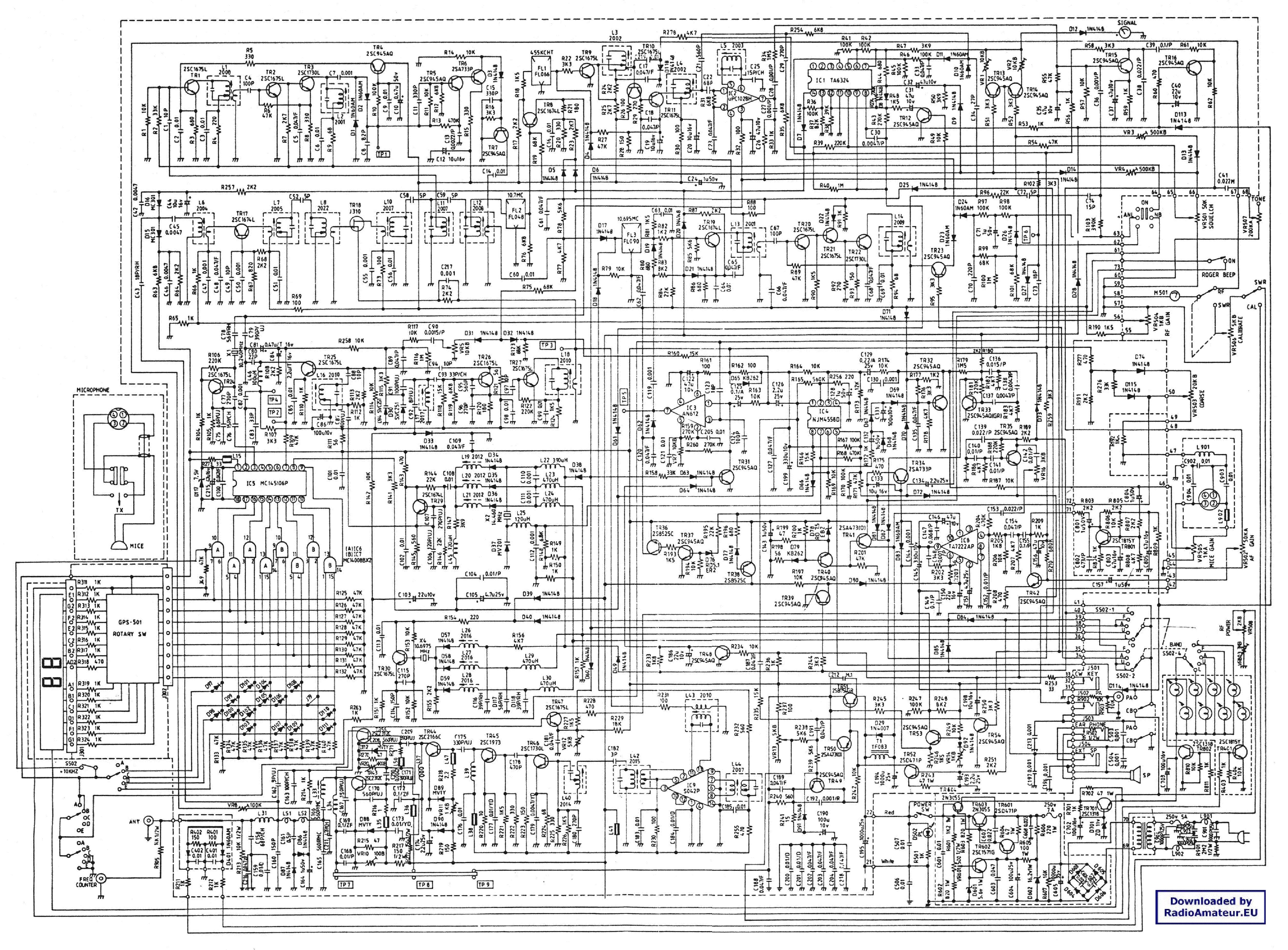 GALAXY CB Service Manual download, schematics, eeprom, repair info