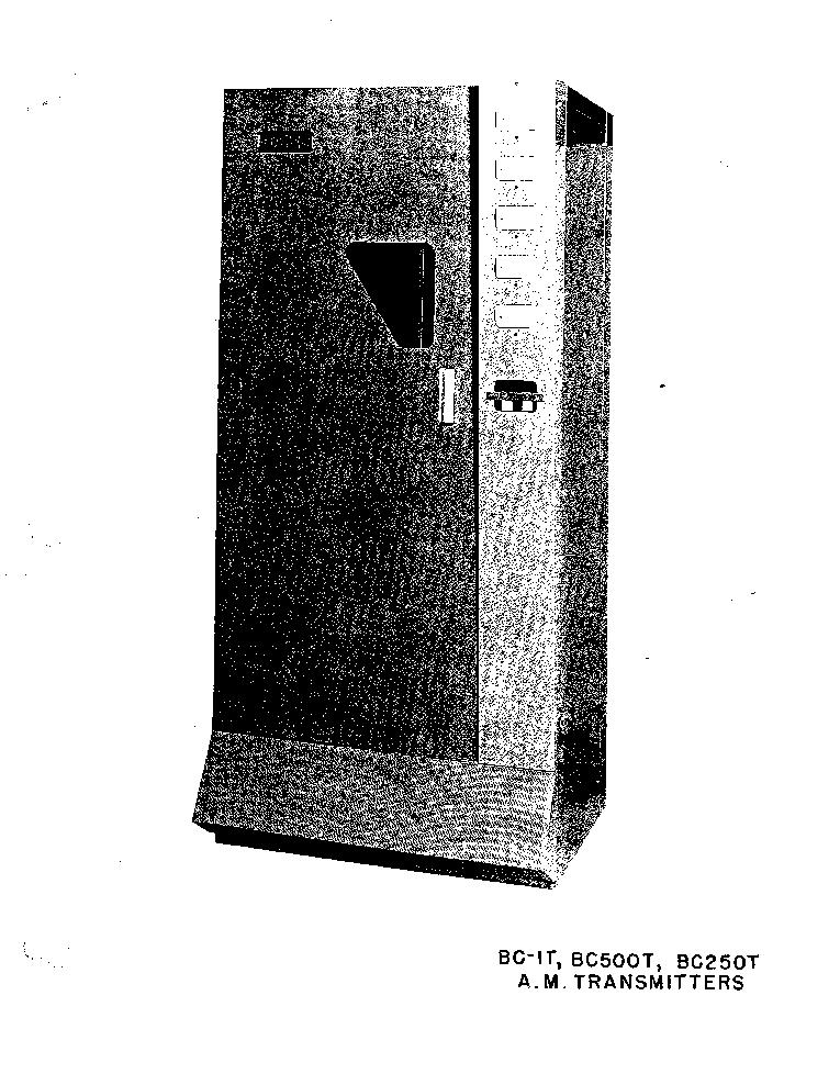 GATES-RADIO M-5790 BC-1T BC-500T BC-250T 0,54-1,6MHZ 250W