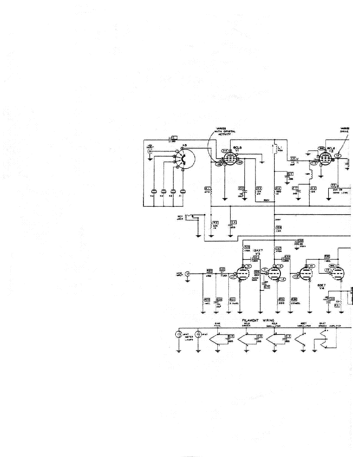 HEATHKIT DX-60 SCH Service Manual download, schematics ... on