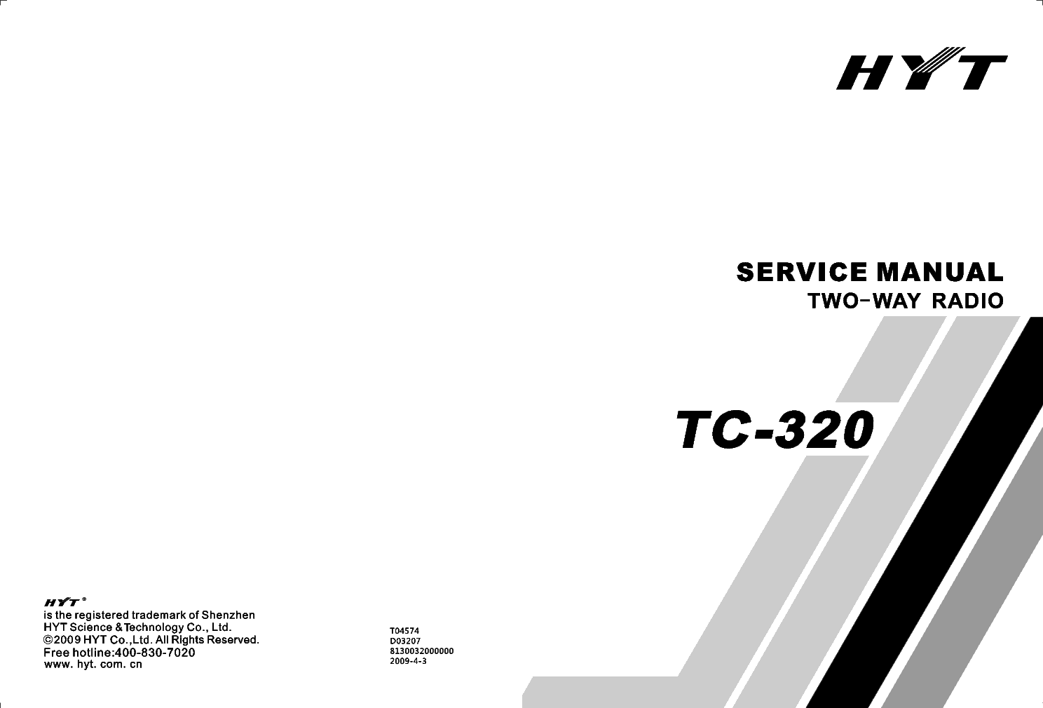 HYT TC-320 SM Service Manual download, schematics, eeprom
