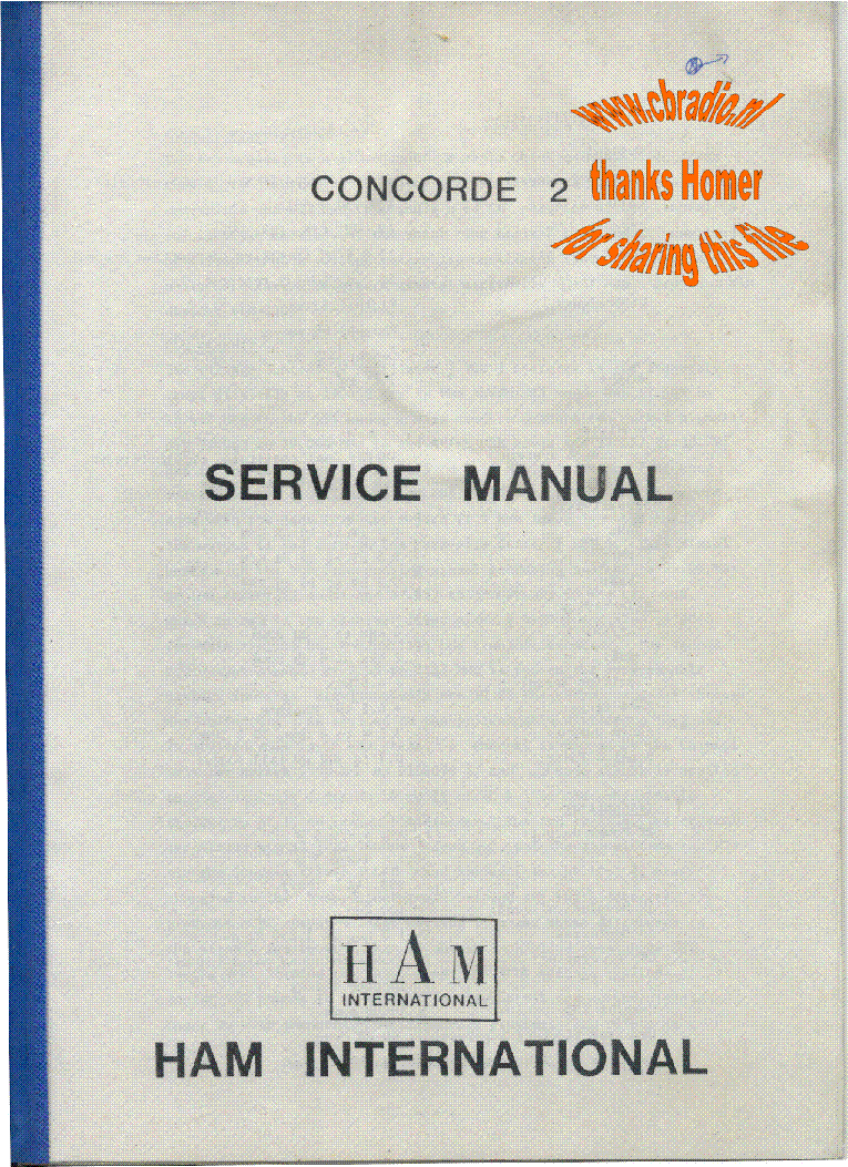 Ham Concorde 2 Sm Service Manual Download Schematics Eeprom