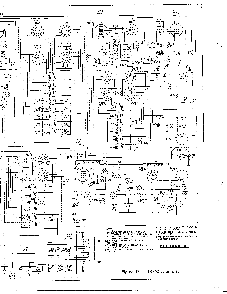 Hammarlund Hx 50 Transmitter Sch Service Manual Download Schematics