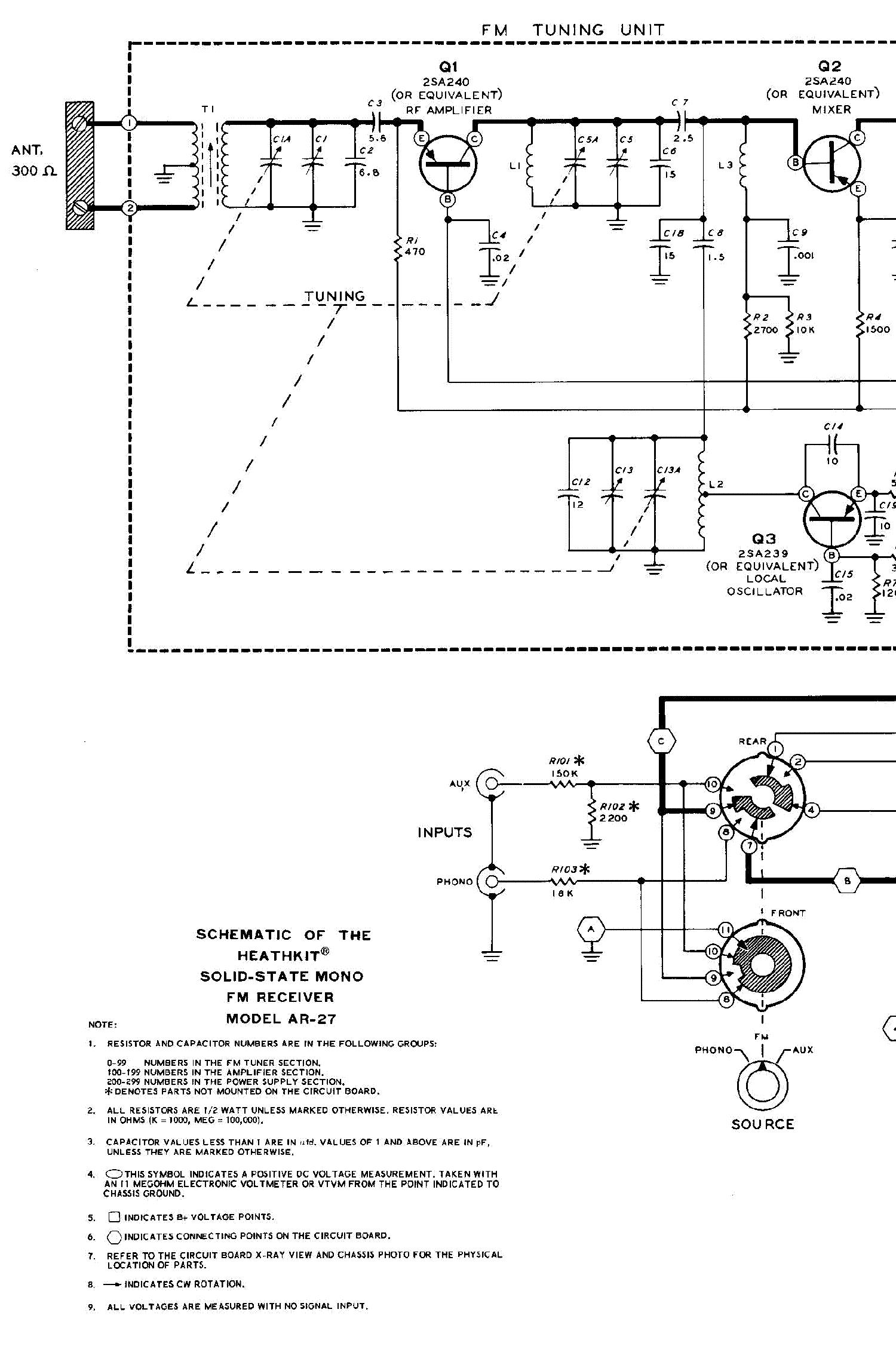 Heathkit Et 1000 Etw Circuit Design Trainer Sm Service Manual F M Receiver Diagram Free Ar 27 Solid State Fm