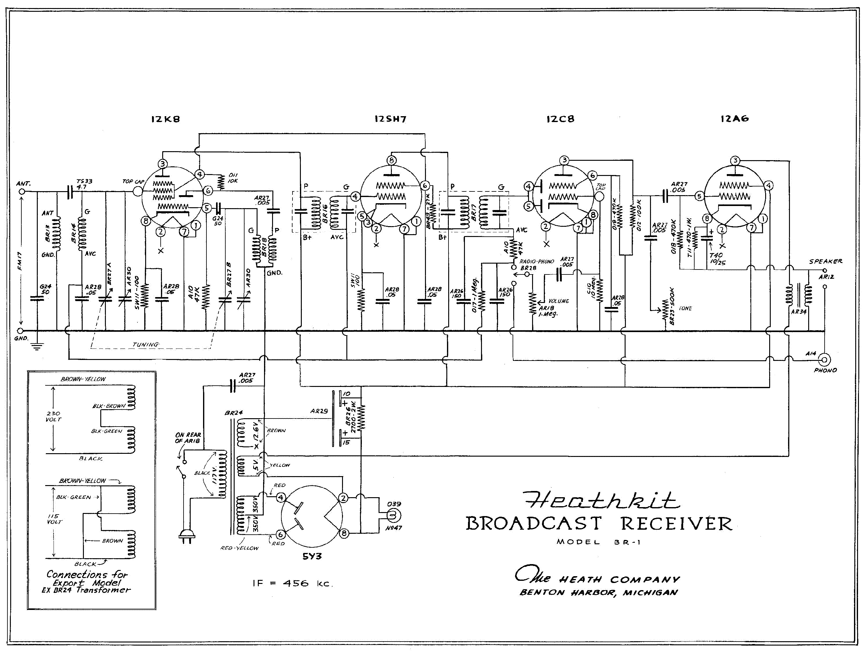 heathkit dx-40-u transmitter sm service manual download ... dx 40 schematic #12