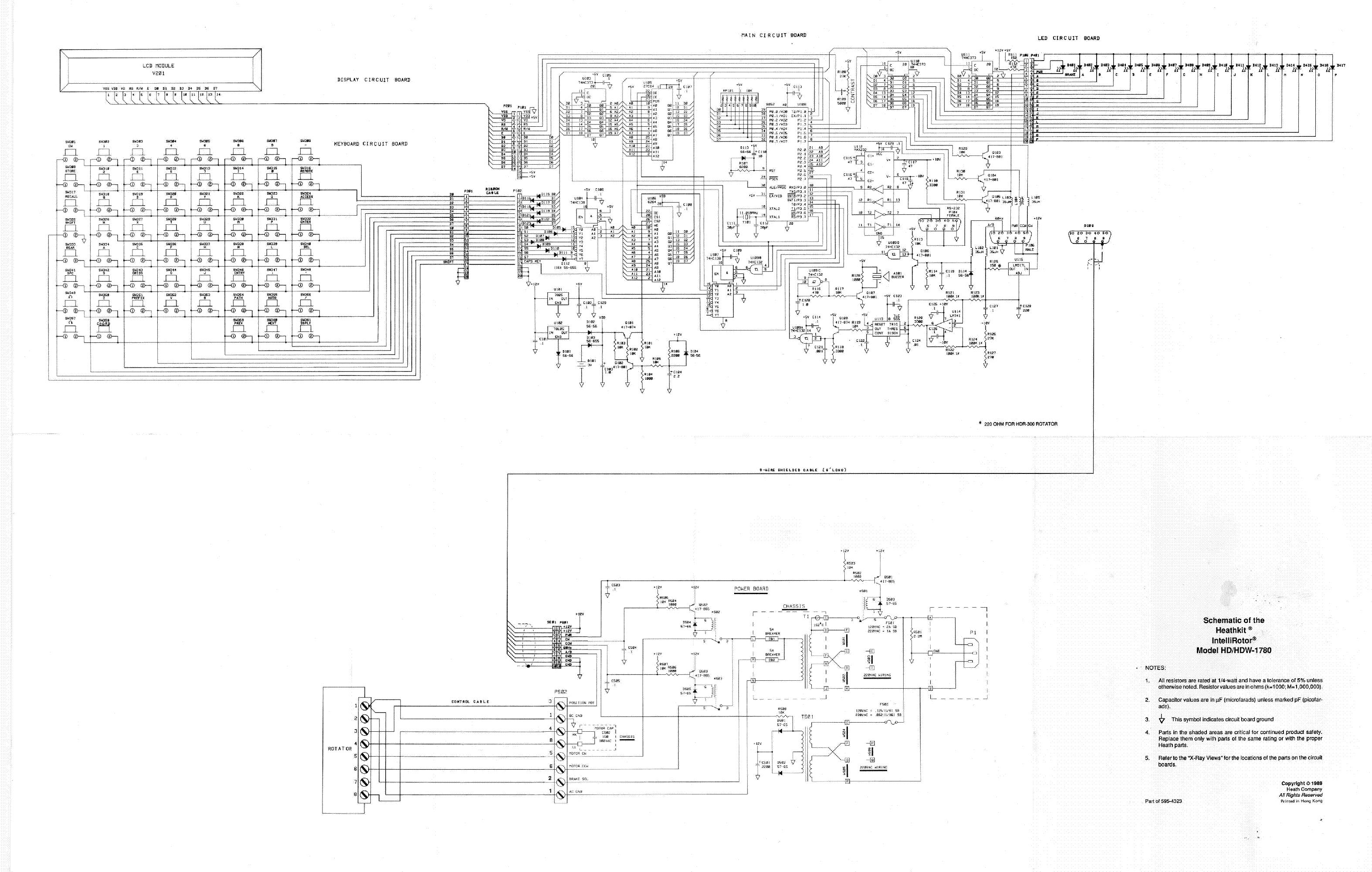 heathkit hd hdw 1780 intelli rotor antenna forgato 1989